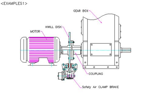 气动离合器-【供应韩国现代气动夹紧式制动器cba-b